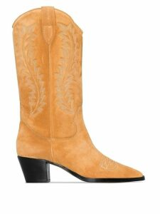 Paris Texas embroidered 55mm cowboy boots - Brown