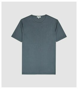 Reiss Balham - Mercerised Crew Neck T-shirt in Airforce Blue, Mens, Size XXL