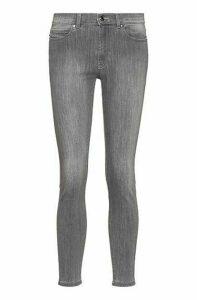 CHARLIE super-skinny-fit jeans in silver-grey denim