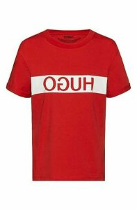 Reverse-logo slim-fit T-shirt in Recot® cotton