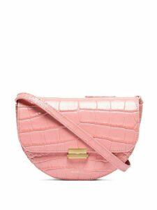 Wandler Anna crocodile-effect belt bag - PINK