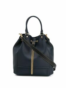 Fendi Karligraphy drawstring bucket tote - Blue