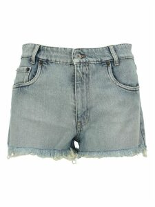 Miu Miu Belted Denim Shorts