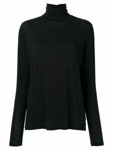 Majestic Filatures turtleneck long-sleeved top - Black
