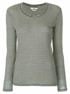 Isabel Marant Étoile long sleeved striped top - Black