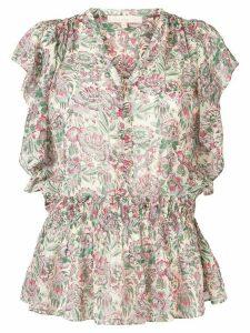 Vanessa Bruno ruffle trim peplum blouse - Green