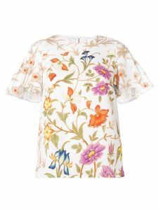 Peter Pilotto botanical print blouse - White