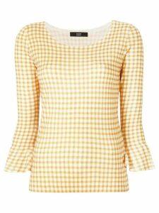 Steffen Schraut gingham print blouse - Yellow
