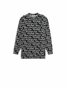 Balenciaga L/s Logo Crewneck Sweater