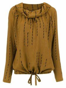 Uma Raquel Davidowicz pleated Cidra blouse - Brown