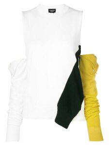 Calvin Klein 205W39nyc cold-shoulder removable sleeve sweater - White
