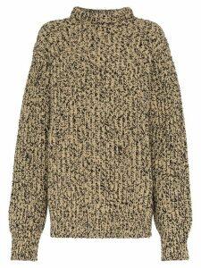 Calvin Klein 205W39nyc high neck melange wool knit jumper - Brown