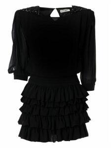 Saint Laurent Ruffled Skirt Dress