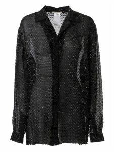 Marco de Vincenzo Semi See-through Glittery Shirt
