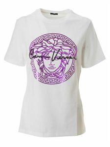 Versace Metallic Medusa Logo With Signature T-shirt