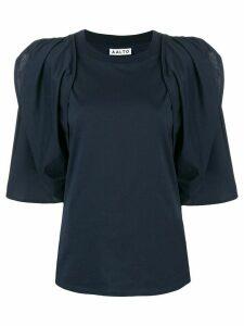 Aalto draped sleeve blouse - Blue