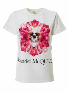 Alexander McQueen Skull Logo Print T-shirt