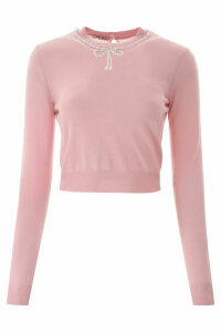 Miu Miu Pearl-embellished Pullover