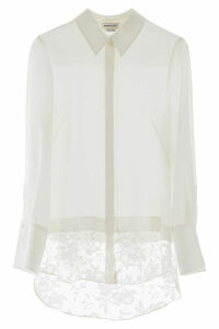 Alexander McQueen Shirt With Lace Insert