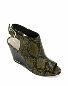 Kenneth Cole Women's Merrick Snake-Print Wedge Heel Sandals