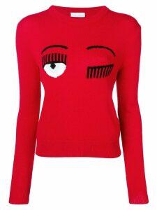 Chiara Ferragni flirting knit sweater - Red