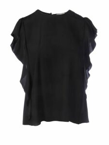 RED Valentino Ruches Silk Top