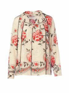 RED Valentino Print Silk Shirt