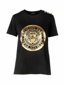 Balmain Btn Metallic Coin T-shirt