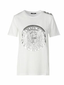 Balmain Btn Metallic Coin T-shirt