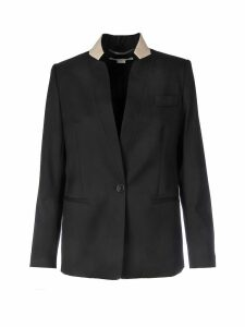 Stella McCartney Contrast Lined Lapel Blazer