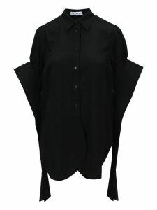 Jw Anderson Round Hem Exaggerated Sleeve Shirt