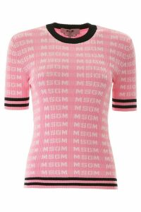 MSGM Monogram Short-sleeved Sweater