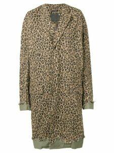 R13 leopard print coat - Green