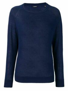 Aspesi round neck knitted jumper - Blue