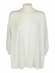 Agnona White Cashmere Top