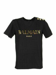 Balmain T-shirt Black/gold