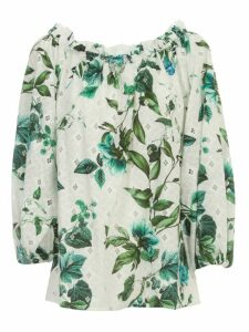 Blumarine Printed Shirt 3/4s Naked Shoulders