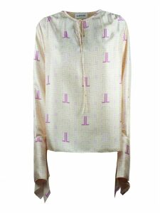 Lanvin Pink Silk Jl Labyrinth Blouse
