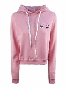 Chiara Ferragni Pink Cotton Hoodie