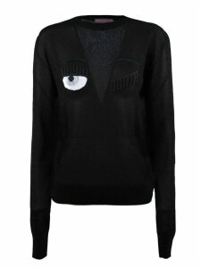 Chiara Ferragni Black Lurex Sweater