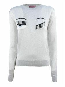 Chiara Ferragni Silver Lurex Sweater
