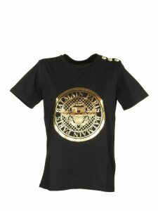 Balmain T-shirt Black/gold