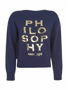 Philosophy di Lorenzo Serafini Sequined Logo Sweater