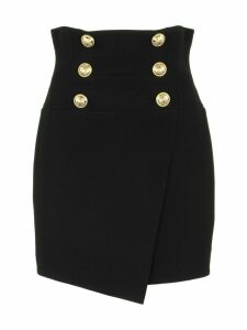Balmain High-waisted Skirt Black