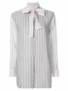 JW Anderson striped bow tie shirt - White