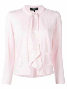 Paule Ka ribbon-embellished cardigan - PINK
