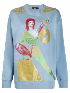 Undercover graphic Bowie print sweatshirt - Blue