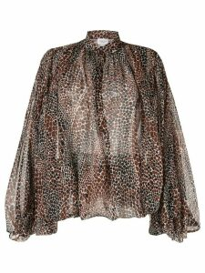 Giambattista Valli scale print shirt - Brown