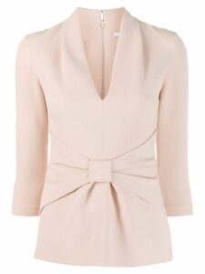 Safiyaa gathered front blouse - PINK