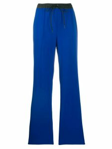 P.A.R.O.S.H. contrast waistband trousers - Blue